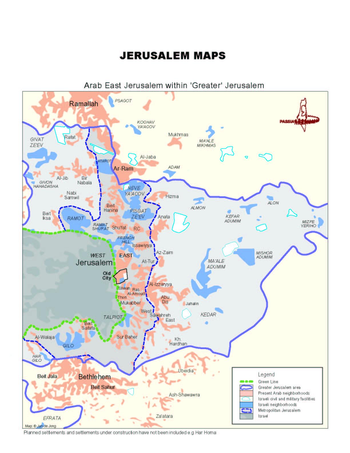 Israel Jerusalem Karte.Nahostkonflikt Israel Palastina
