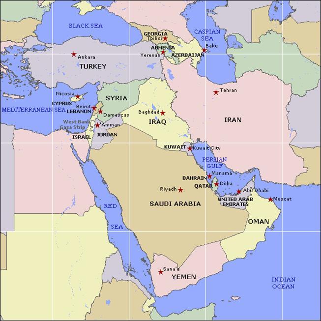 Israel Karte.Nahostkonflikt Israel Palästina